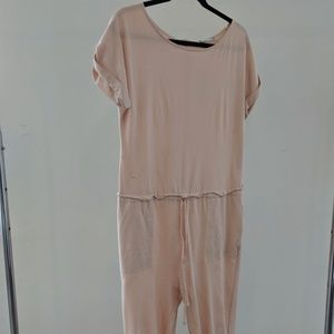 Soft Pink Zara Jumpsuit w/ Drawstring Waist